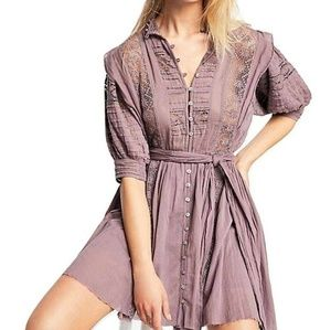Sydney Lace Pintucked Dress